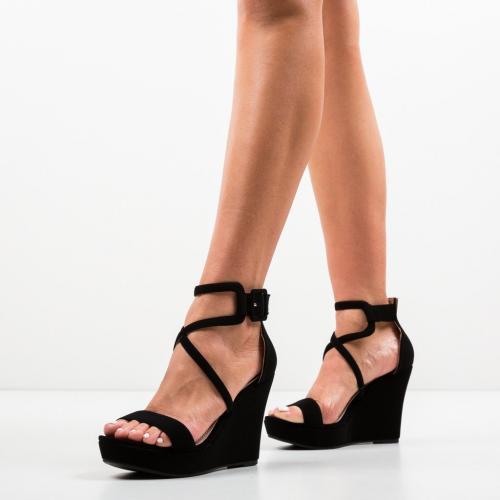 Platforme Kinha Negre - Sandale dama ieftine - Sandale fara toc