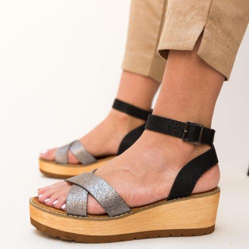 Platforme Marisa Gri - Sandale dama ieftine - Sandale cu platforma