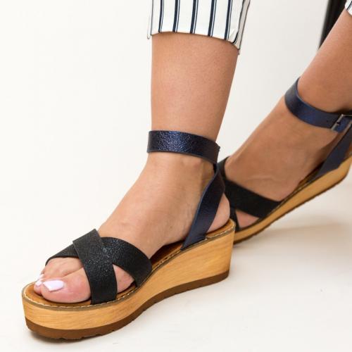Platforme Marisa Negre - Sandale dama ieftine - Sandale cu platforma