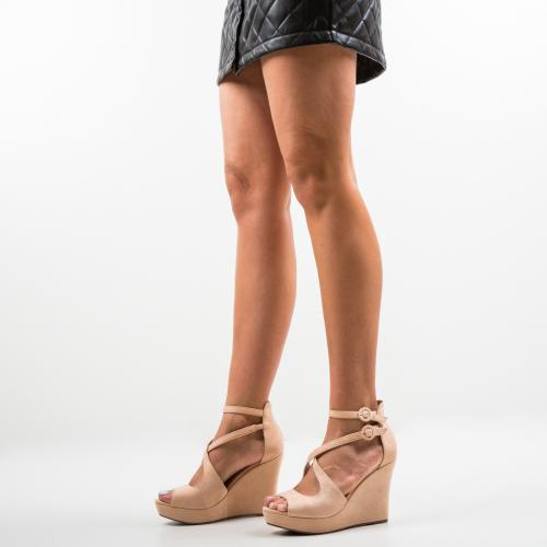 Platforme Naruto Bej - Sandale dama ieftine - Sandale fara toc