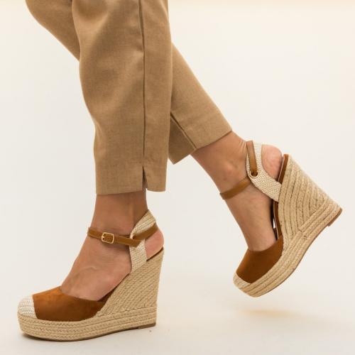 Platforme Pappy Camel - Sandale dama ieftine - Sandale cu platforma