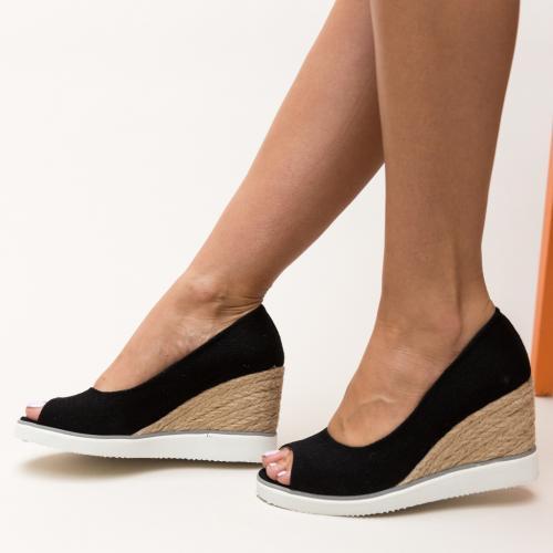 Platforme Rardo Negre - Sandale dama ieftine - Sandale cu platforma