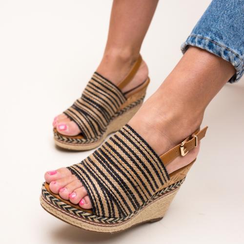 Platforme Rich Negre - Sandale dama ieftine - Sandale cu platforma
