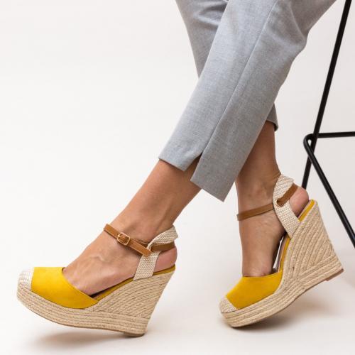 Platforme Ritmo Galbene - Sandale dama ieftine - Sandale cu platforma
