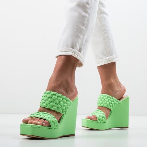 Platforme Terko Verzi - Sandale dama ieftine - Sandale fara toc