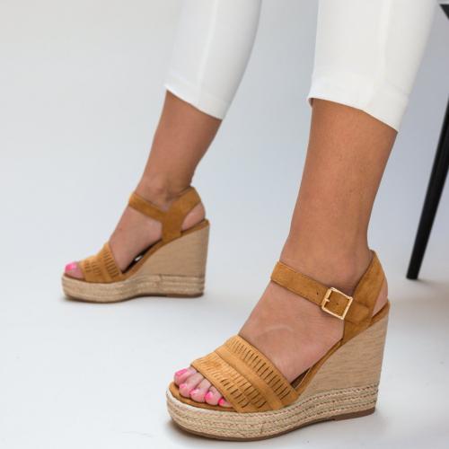 Platforme Tierney Camel - Sandale dama ieftine - Sandale cu platforma