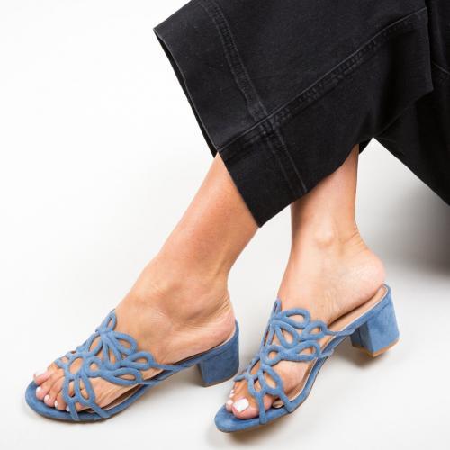 Saboti Dajoko Albastri - Sandale dama ieftine - Sandale cu toc