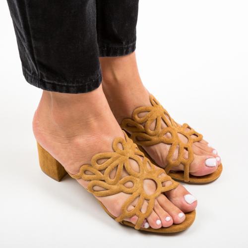 Saboti Dajoko Camel - Sandale dama ieftine - Sandale cu toc