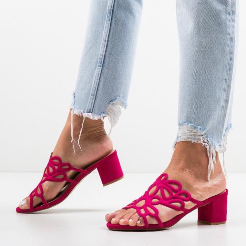 Saboti Dajoko Roz - Sandale dama ieftine - Sandale cu toc