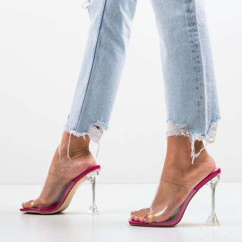 Saboti Grayson Roz - Sandale dama ieftine - Sandale cu toc