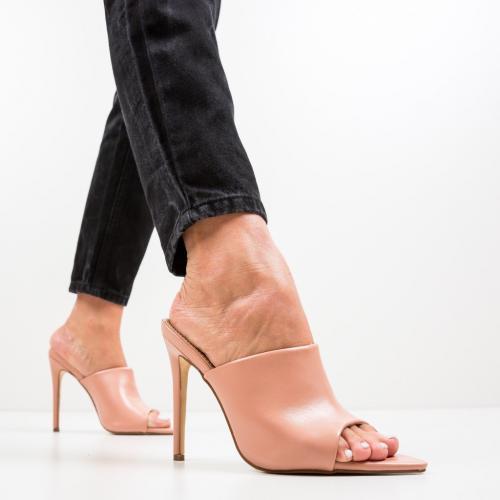 Saboti Mirror Roz - Sandale dama ieftine - Sandale cu toc