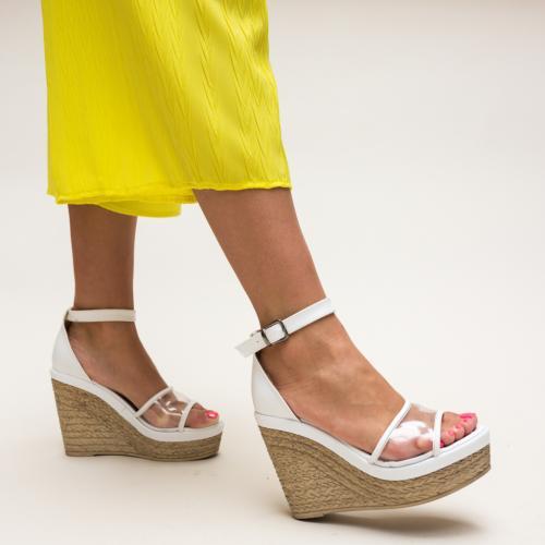 Sandale Abizo Albe - Sandale dama ieftine - Sandale cu platforma