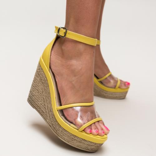 Sandale Abizo Galbene - Sandale dama ieftine - Sandale cu platforma