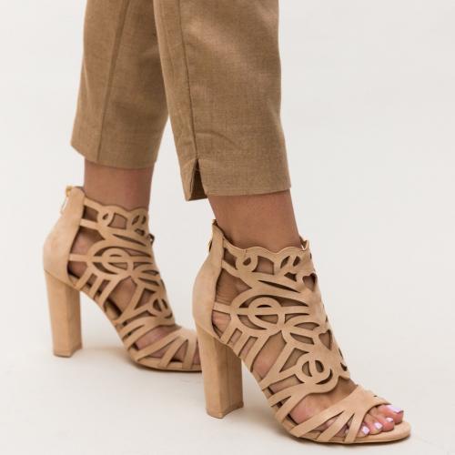 Sandale Aco Nude - Sandale dama ieftine - Sandale cu toc gros