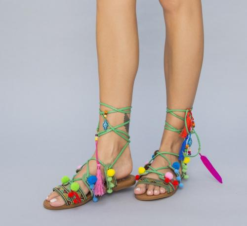 Sandale Baxi Verzi - Sandale dama ieftine - Sandale fara toc