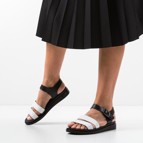 Sandale Beniga Albe - Sandale dama ieftine - Sandale fara toc