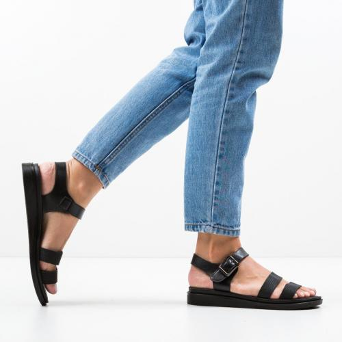 Sandale Beniga Negre - Sandale dama ieftine - Sandale fara toc