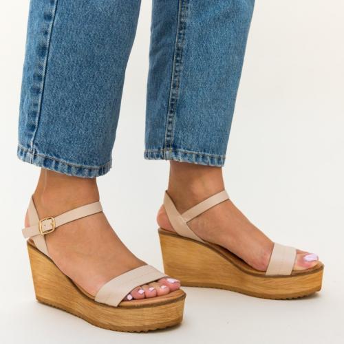 Sandale Briana Bej - Sandale dama ieftine - Sandale cu platforma
