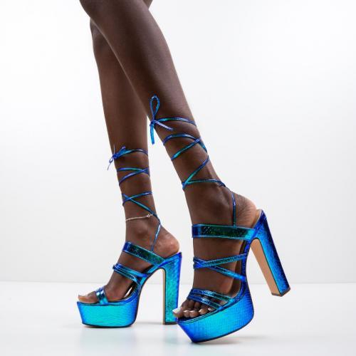 Sandale Castro Albastre - Sandale dama ieftine - Sandale cu toc