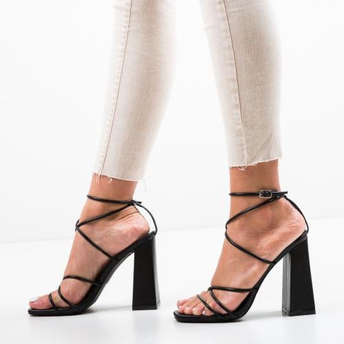 Sandale Dalby Negre - Sandale dama ieftine - Sandale cu toc