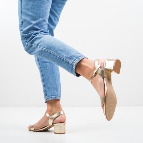 Sandale Darre Aurii - Sandale dama ieftine - Sandale cu toc