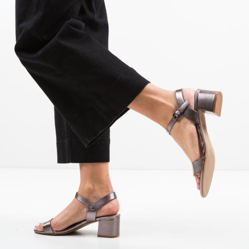 Sandale Darre Gri - Sandale dama ieftine - Sandale cu toc