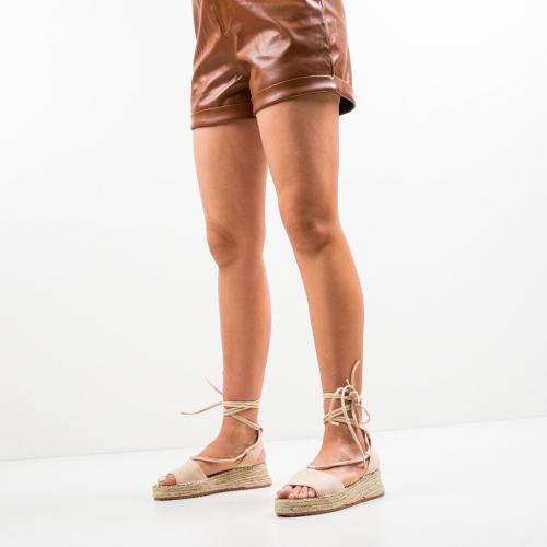 Sandale Dema Bej - Sandale dama ieftine - Sandale fara toc
