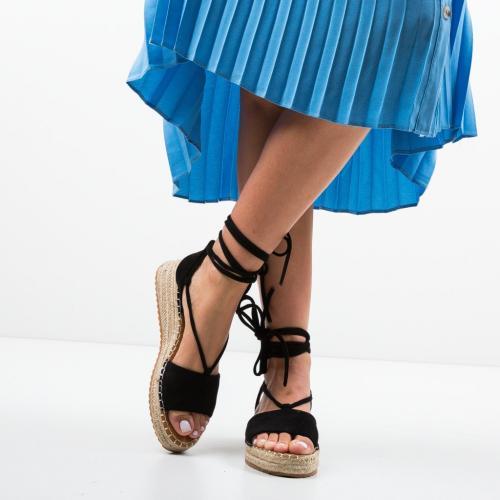 Sandale Dema Negre - Sandale dama ieftine - Sandale fara toc