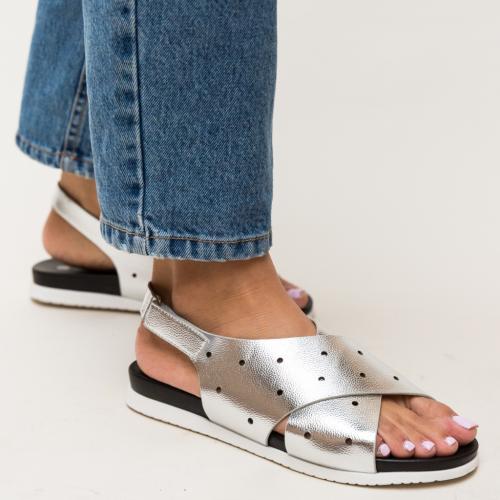 Sandale Dives Argintii - Sandale dama ieftine - Sandale cu talpa joasa