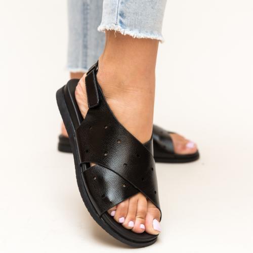 Sandale Dives Negre - Sandale dama ieftine - Sandale cu talpa joasa