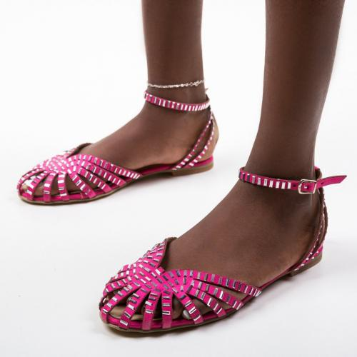 Sandale Egiptan Fuchsia - Sandale dama ieftine - Sandale fara toc