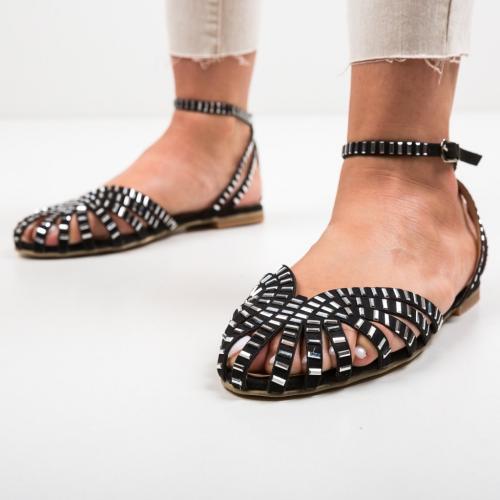 Sandale Egiptan Negre - Sandale dama ieftine - Sandale fara toc