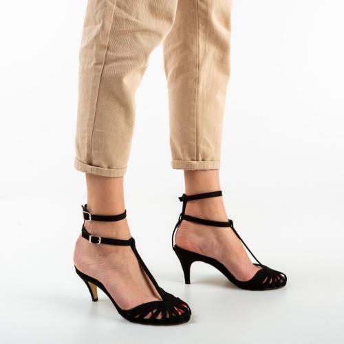 Sandale Eller Negre - Sandale dama ieftine - Sandale cu toc