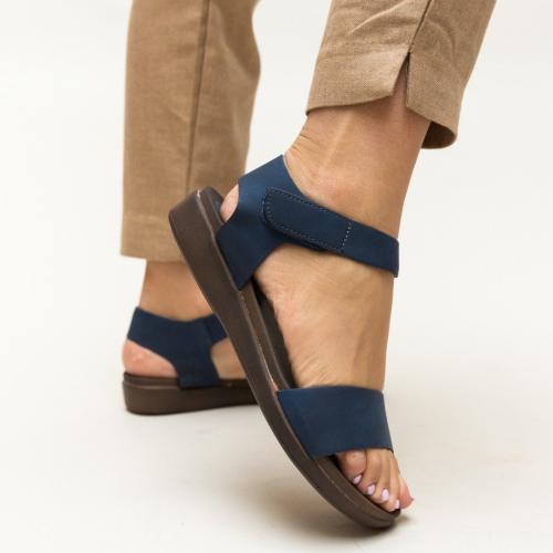 Sandale Gary Bleumarin - Sandale dama ieftine - Sandale cu talpa joasa