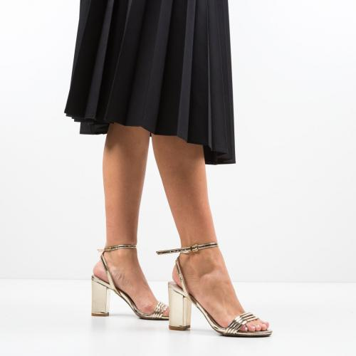 Sandale Garza Aurii 2 - Sandale dama ieftine - Sandale cu toc