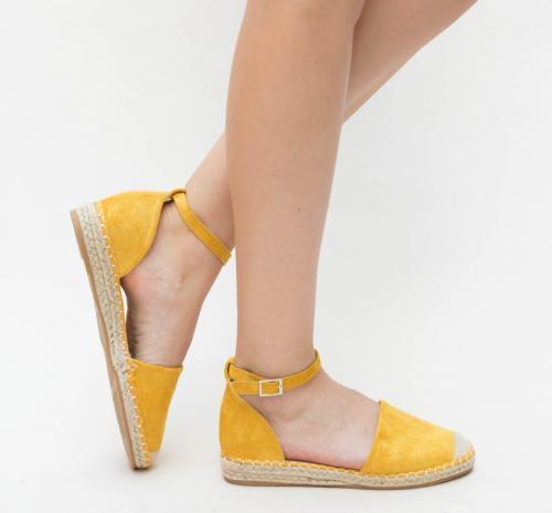 Sandale Gora Galbene - Sandale dama ieftine - Sandale cu talpa joasa