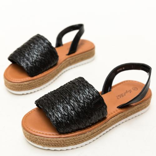 Sandale Gregos Negre - Sandale dama ieftine - Sandale cu talpa joasa