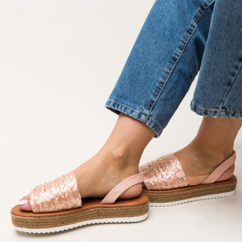Sandale Gregos Roz - Sandale dama ieftine - Sandale cu talpa joasa