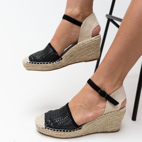 Sandale Guerra Negre - Sandale dama ieftine - Sandale cu platforma