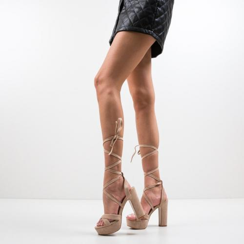 Sandale Haines Bej - Sandale dama ieftine - Sandale cu toc