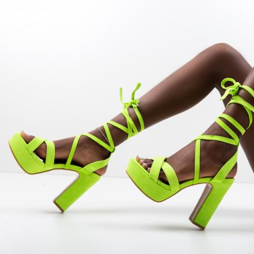 Sandale Haines Verzi - Sandale dama ieftine - Sandale cu toc