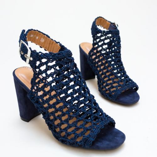 Sandale Huang Bleumarin - Sandale dama ieftine - Sandale cu toc gros