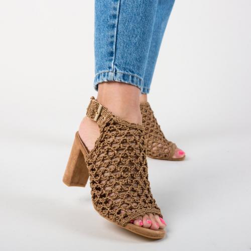 Sandale Huang Camel - Sandale dama ieftine - Sandale cu toc gros