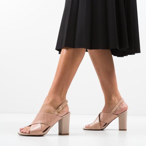 Sandale Jorge Bej - Sandale dama ieftine - Sandale cu toc