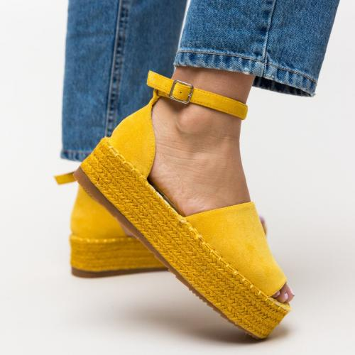 Sandale Joyner Galbene - Sandale dama ieftine - Sandale cu platforma