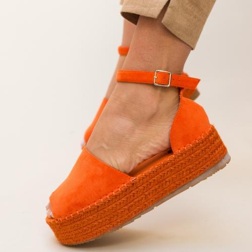 Sandale Joyner Portocalii - Sandale dama ieftine - Sandale cu platforma
