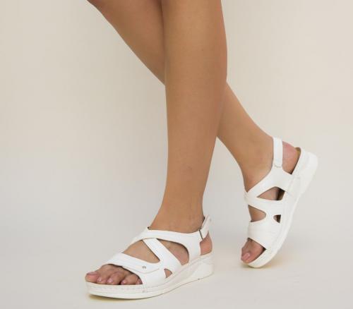 Sandale Kasas Albe - Sandale dama ieftine - Sandale cu talpa joasa