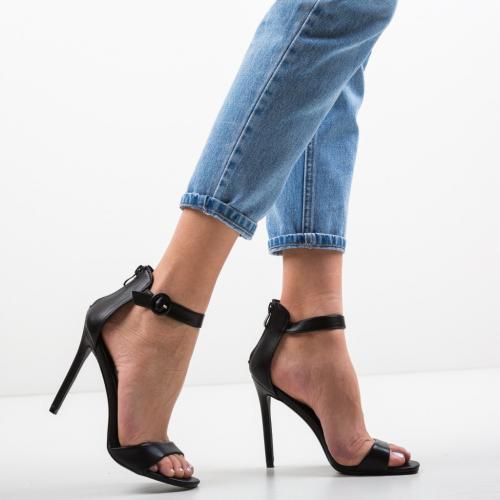 Sandale Kirby Negre - Sandale dama ieftine - Sandale cu toc