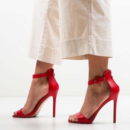 Sandale Kirby Rosii - Sandale dama ieftine - Sandale cu toc