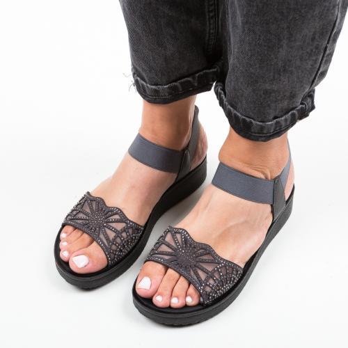 Sandale Lemy Gri - Sandale dama ieftine - Sandale fara toc